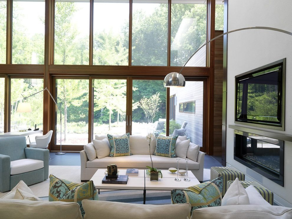 Comfortable Living Room Fireplace New Most fortable Living Room Contemporary with Tv Above Fireplace themed Decorative Pillows