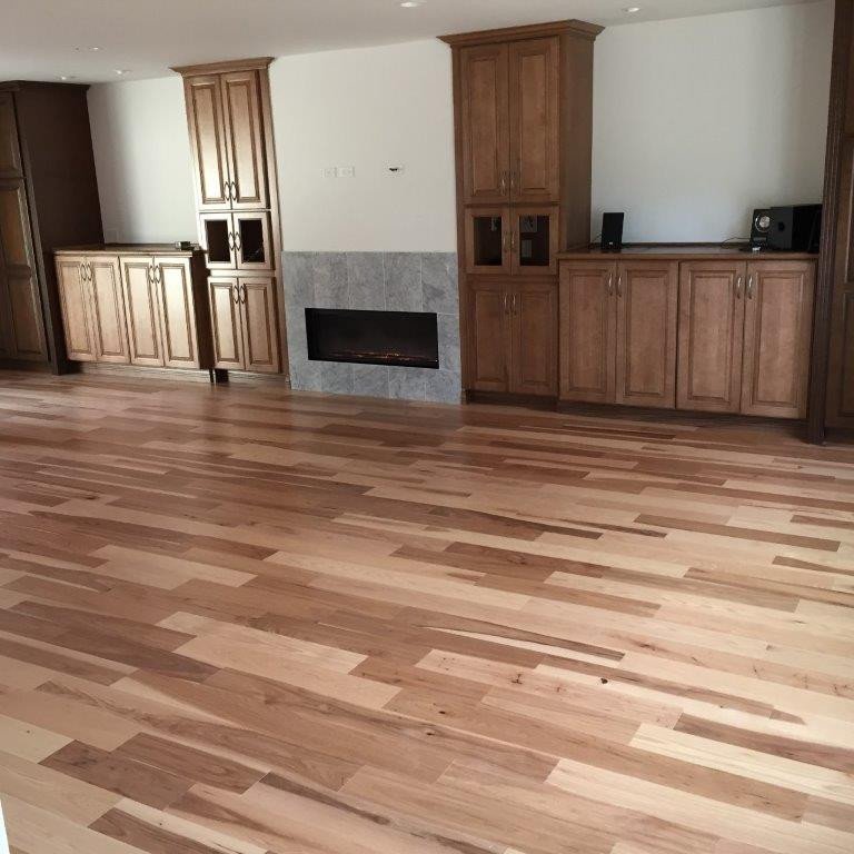 Comfortable Living Room Hickory Floor Awesome Hardwood Floors Gallery Slaughterbeck Floors Inc
