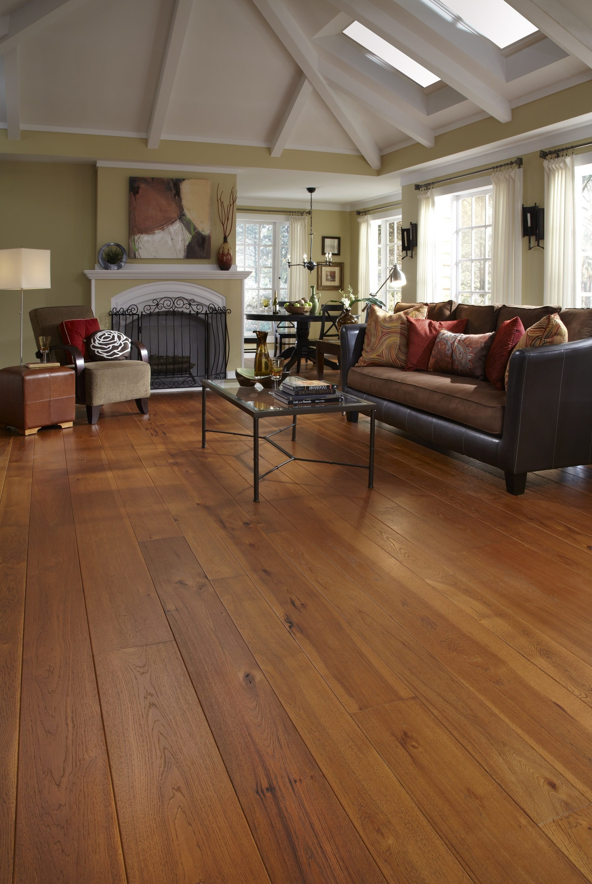 Comfortable Living Room Hickory Floor Awesome Hickory Hardwood Flooring In Living Room