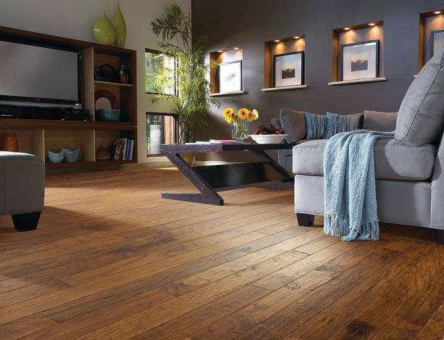 Comfortable Living Room Hickory Floor Awesome Hickory Wood Floor Living Room Contemporary Living Room Jacksonville by Fantastic Floors