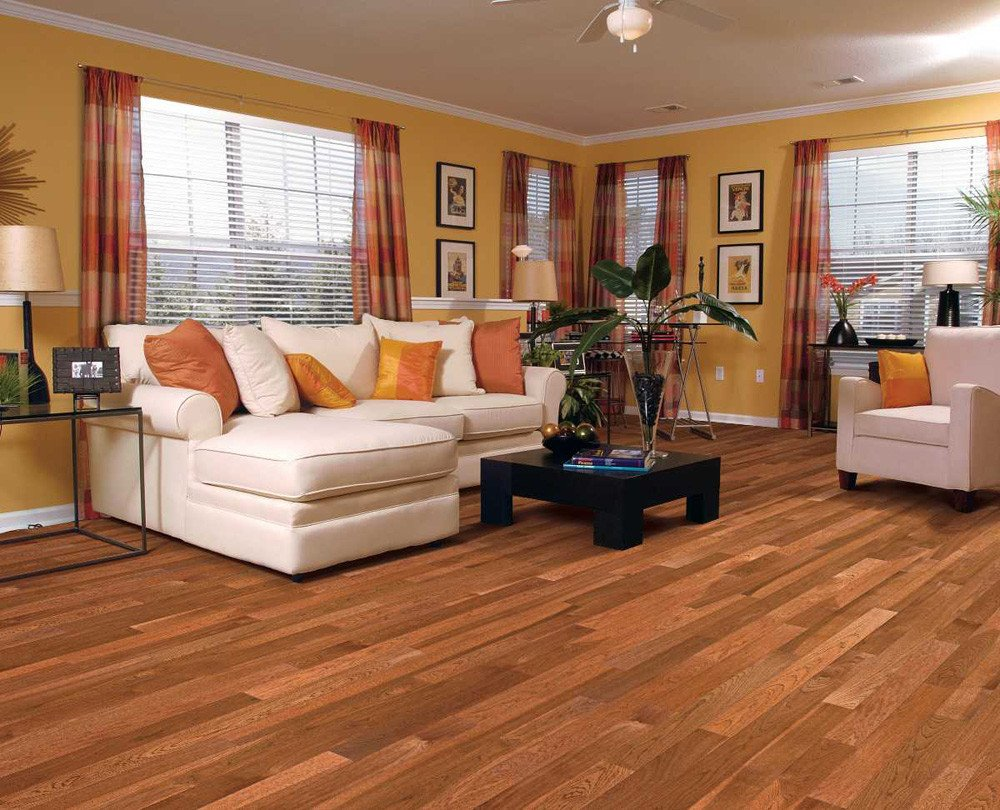 Comfortable Living Room Hickory Floor Beautiful Floor Hickory Hardwood Flooring In Living Room with Sifa and Wooden Table and Flower Vase Also