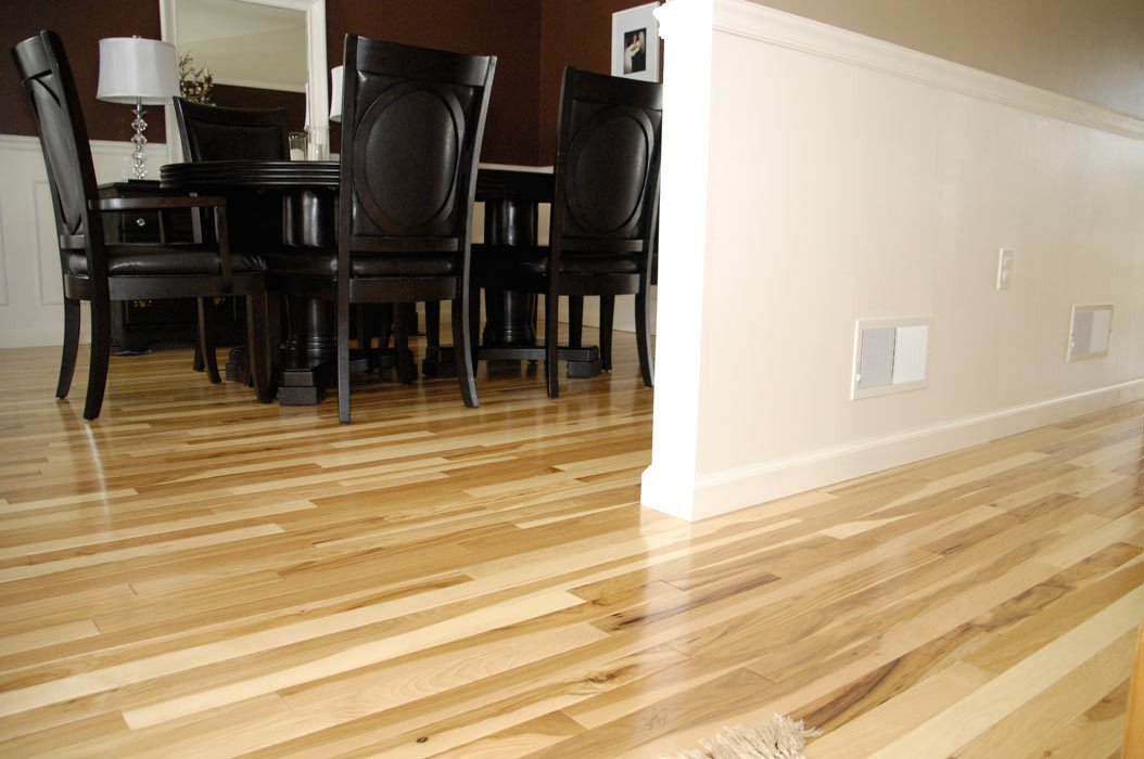 Comfortable Living Room Hickory Floor Beautiful Hickory Floor Reveal Living Rich On Lessliving Rich On Less