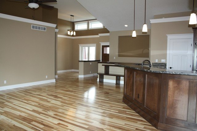 Comfortable Living Room Hickory Floor Inspirational Natural Hickory Floors Traditional Family Room Cedar Rapids by Select Homes Of Iowa