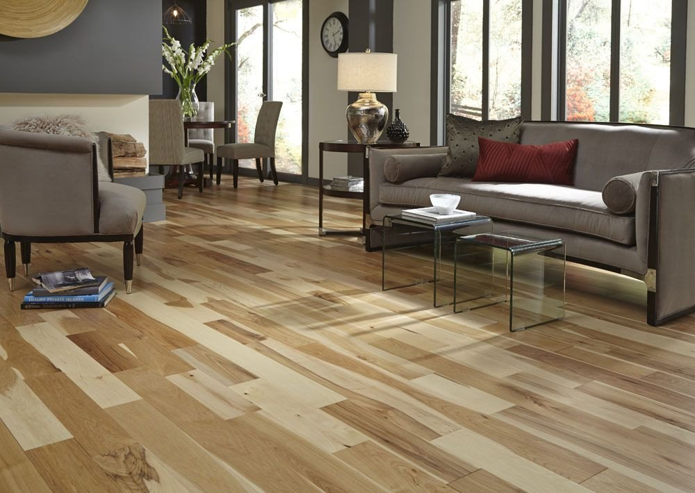 Comfortable Living Room Hickory Floor Luxury Bellawood Matte Natural Hickory Floors Hardwood