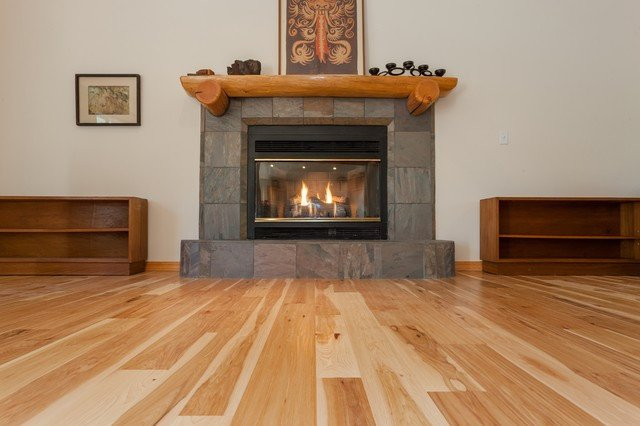 Comfortable Living Room Hickory Floor Unique Natural Hickory Hardwood Floors Traditional Living Room Sacramento by Precision Flooring