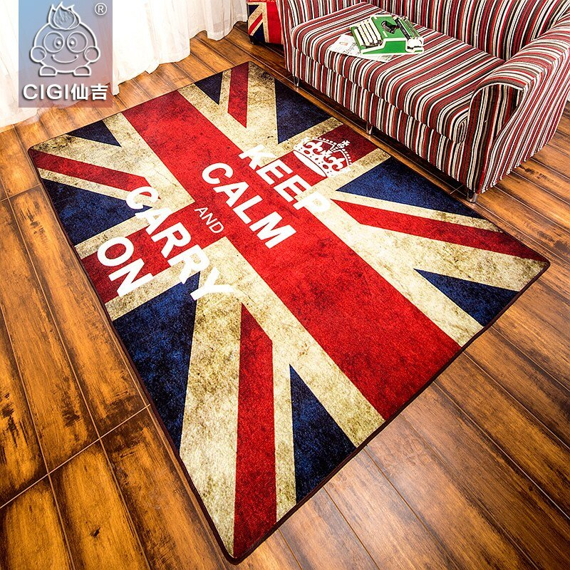 Comfortable Living Room Kitchen Luxury Cigi British Style Rectangular Strip Carpet fortable Floor Mat Blanket Carpet for Bedroom