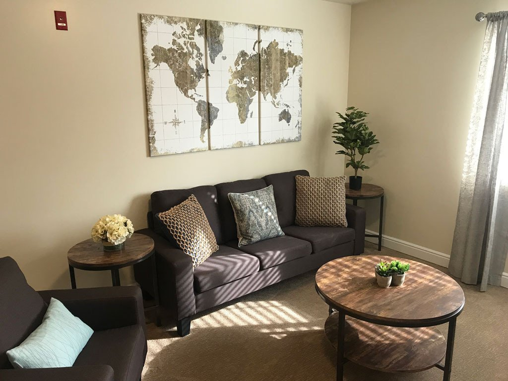 Comfortable Living Room Kitchen New Pacifica Senior Living Millcreek