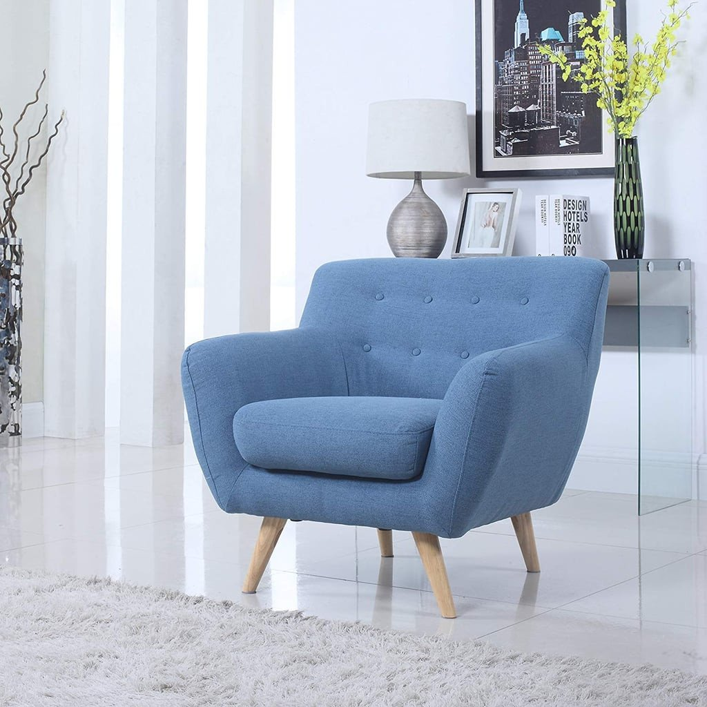 Comfortable Living Room Mid Century Elegant Mid Century Modern Tufted button Living Room Accent Chair