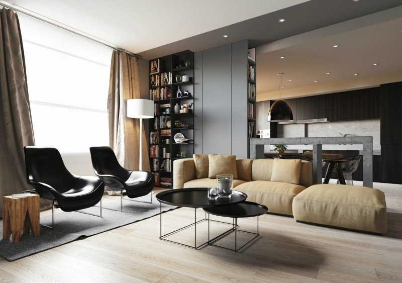 Comfortable Living Room Minimalist Awesome Minimalist Apartment with An Engaging Laid Back Temperament Decoholic