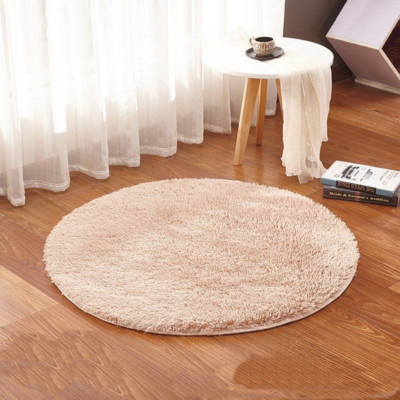 Comfortable Living Room Rugs Luxury Beige Round Rug Carpets Yoga Warm and fortable Wash Living Room Kilim Faux Fur Carpet Kids