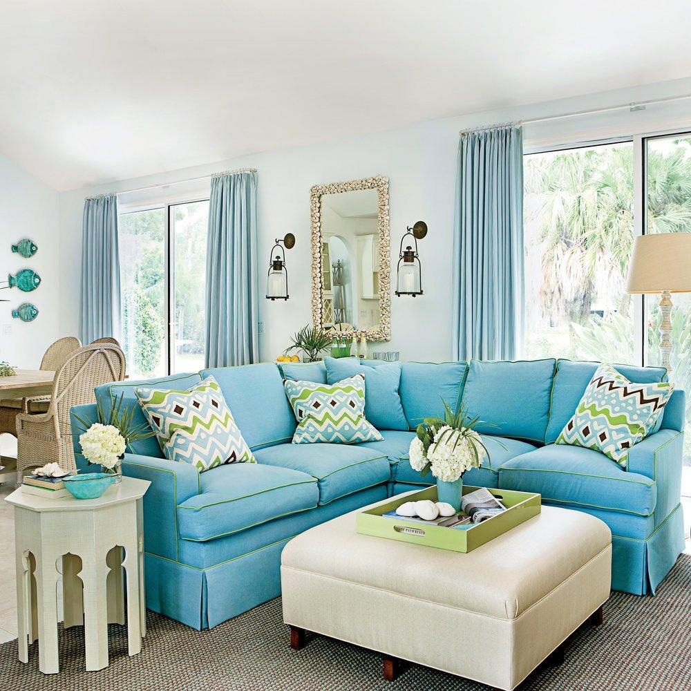 Comfortable Living Room Timeless Fresh Focus On fort John S island Florida Vacation Home Coastal Living