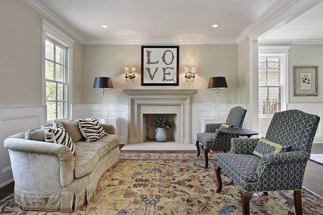 Comfortable Living Room Timeless New Timeless Eclectic Living Room Chicago by Mandy Brown Architects Pc