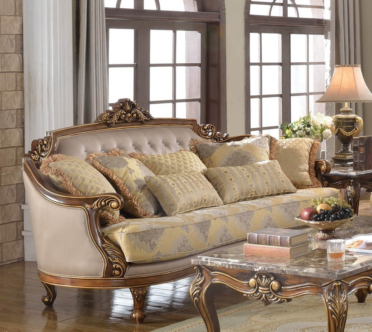 Comfortable Living Room Victorian Awesome Fontaine Traditional Living Room Set sofa Love Seat Chair Exposed Wood Victorian Style