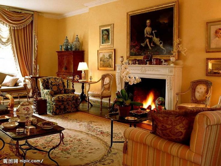 Comfortable Living Room Victorian Awesome Rich Earthy Colors Art Fireplace Everything Victorian Living Room Decorating Ideas