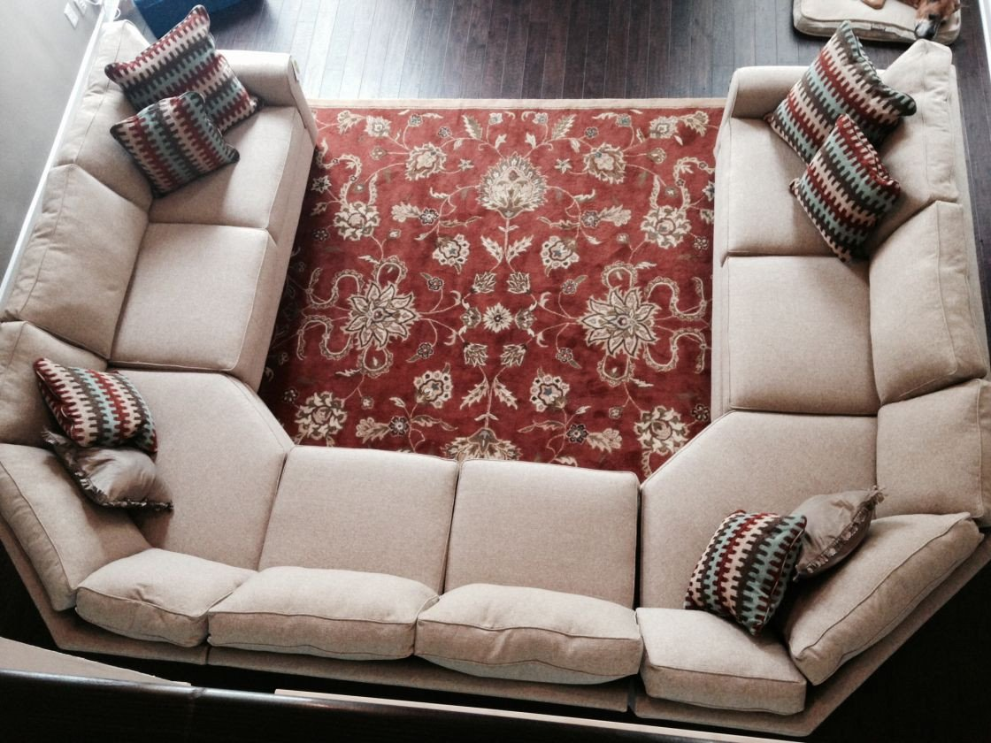 Comfortable Living Roomcouch Beautiful Extraordinary Beige Fabric U Shaped Sectional sofa for fortable Living Room Plan Ideas with