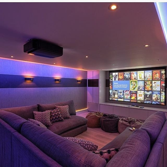Comfortable Living Roomfor Movie Watching Awesome 15 Awesome Basement Home theater [cinema Room Ideas] Pinterest