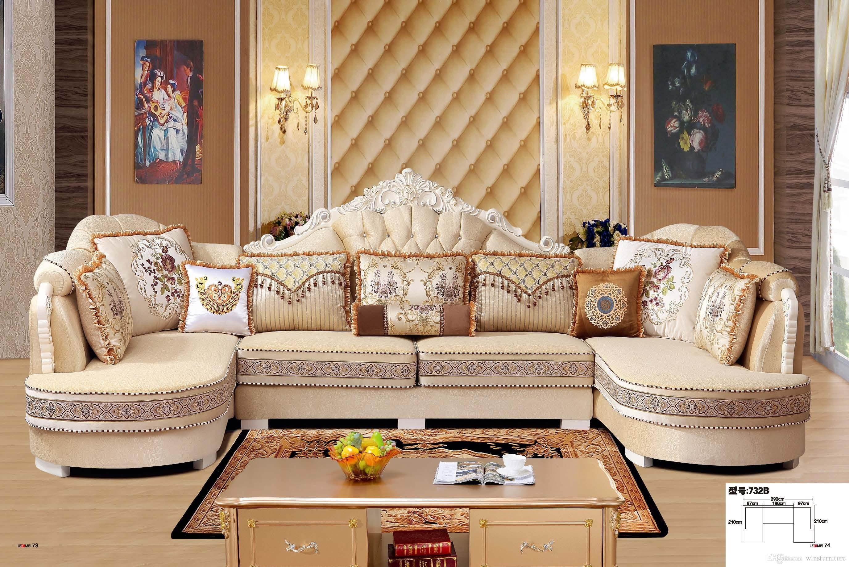 Comfortable Living Roomfurniture Elegant 2019 Modern Living Room Fabric sofa L Shape Sectional soft fortable sofa Set Living Room