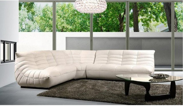 Comfortable Modern Living Room Unique Modern fortable Leather Sectional sofa Modern Living Room Los Angeles by Eurolux