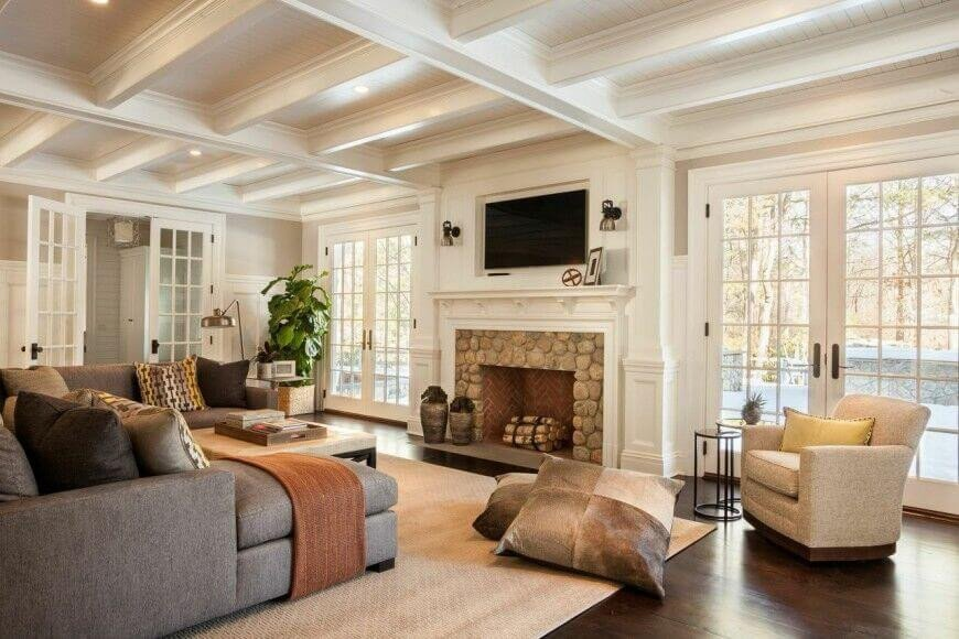 Comfortable Open Living Room Unique 49 Exuberant Of Tv S Mounted Gorgeous Fireplaces Great Images