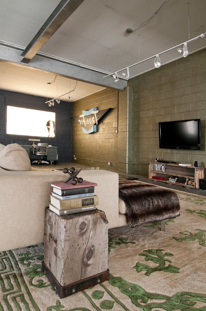 Comfortable Rustic Living Room Beautiful Raw Elegance and Industrial Interior touches In Utah