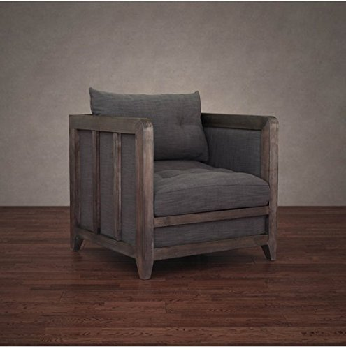 Comfortable Rustic Living Room Elegant Amazon Creston Smoke Linen Rustic Living Room fortable Arm Chair Kitchen & Dining