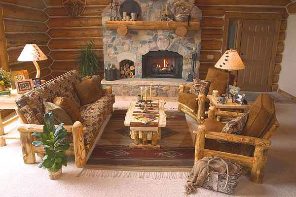 Comfortable Rustic Living Room Elegant Rustic Log Living Room Furniture Log Glider aspen Log Rockers