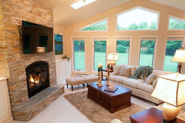Comfortable Traditional Living Room Elegant Warm and fortable Great Room Traditional Living Room Cleveland by Gina Paris Design