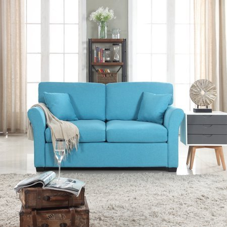 Comfortable Traditional Living Room Fresh Traditional Ultra fortable Linen Fabric Living Room Fabric Loveseat Couch Blue Walmart