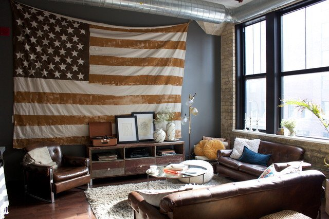 Contemporary Apartment Living Room Awesome Minneapolis Loft Apartment Contemporary Living Room Minneapolis by Carly Boettcher