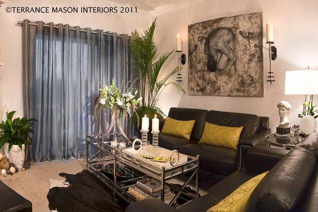 Contemporary Apartment Living Room Beautiful Modern Glam Contemporary Living Room Portland by Terrance Mason Interiors