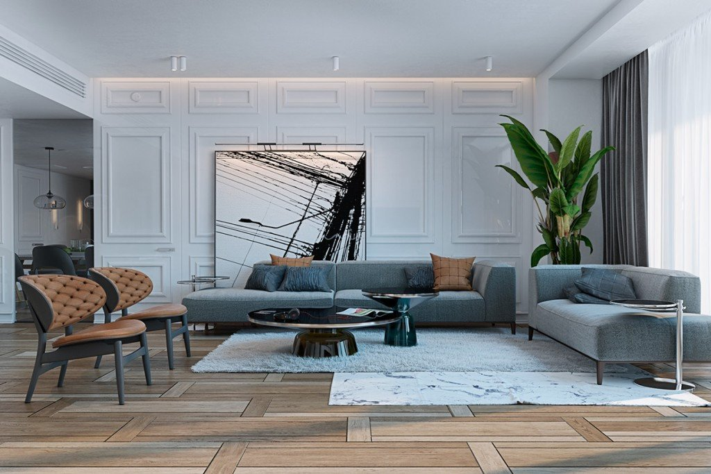 Contemporary Apartment Living Room Best Of A Miami Apartment In Stormy Muted tones