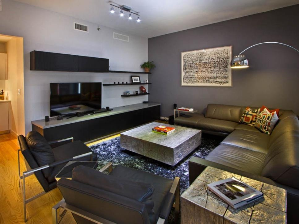 Contemporary Apartment Living Room Best Of Contemporary Gray Bachelor Pad Vanessa Deleon