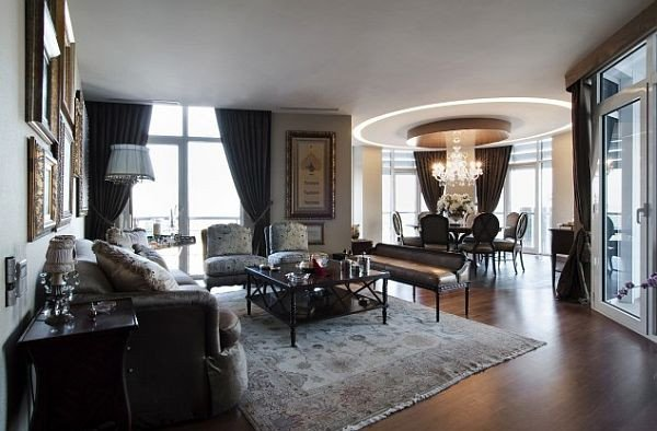 Contemporary Apartment Living Room New Luxury Home In istanbul Traditional Style Meets Contemporary