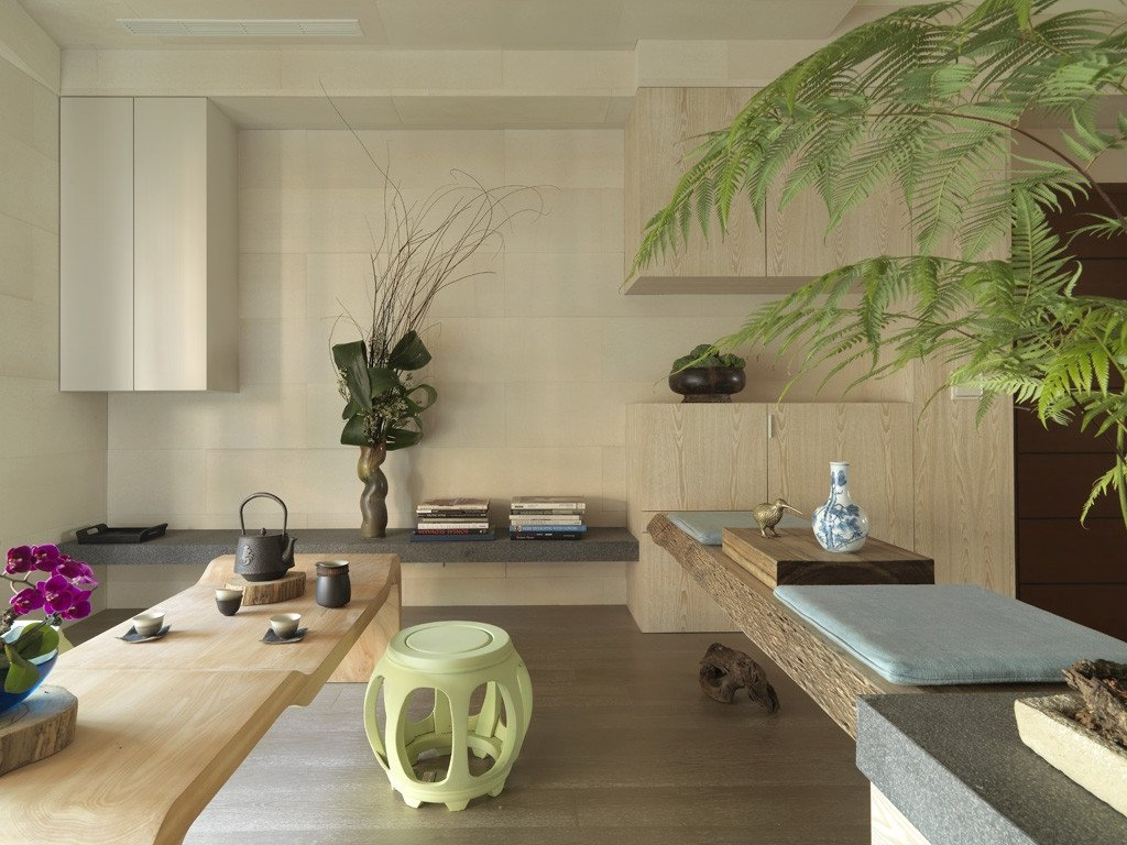 Contemporary asian Living Room Beautiful Impressive Modern asian House by Tae Ha Interior Design Decoholic