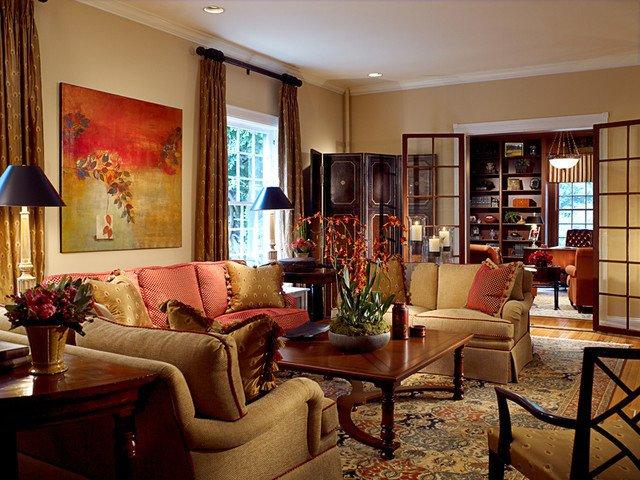 Contemporary asian Living Room Elegant Fava Design Group asian Living Room Baltimore by Fava Design Group