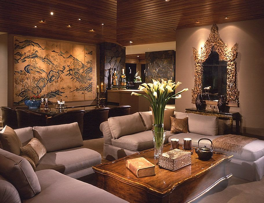 Contemporary asian Living Room Unique Interior Design Contemporary asian Palm Desert Ca Donna Livingston Design