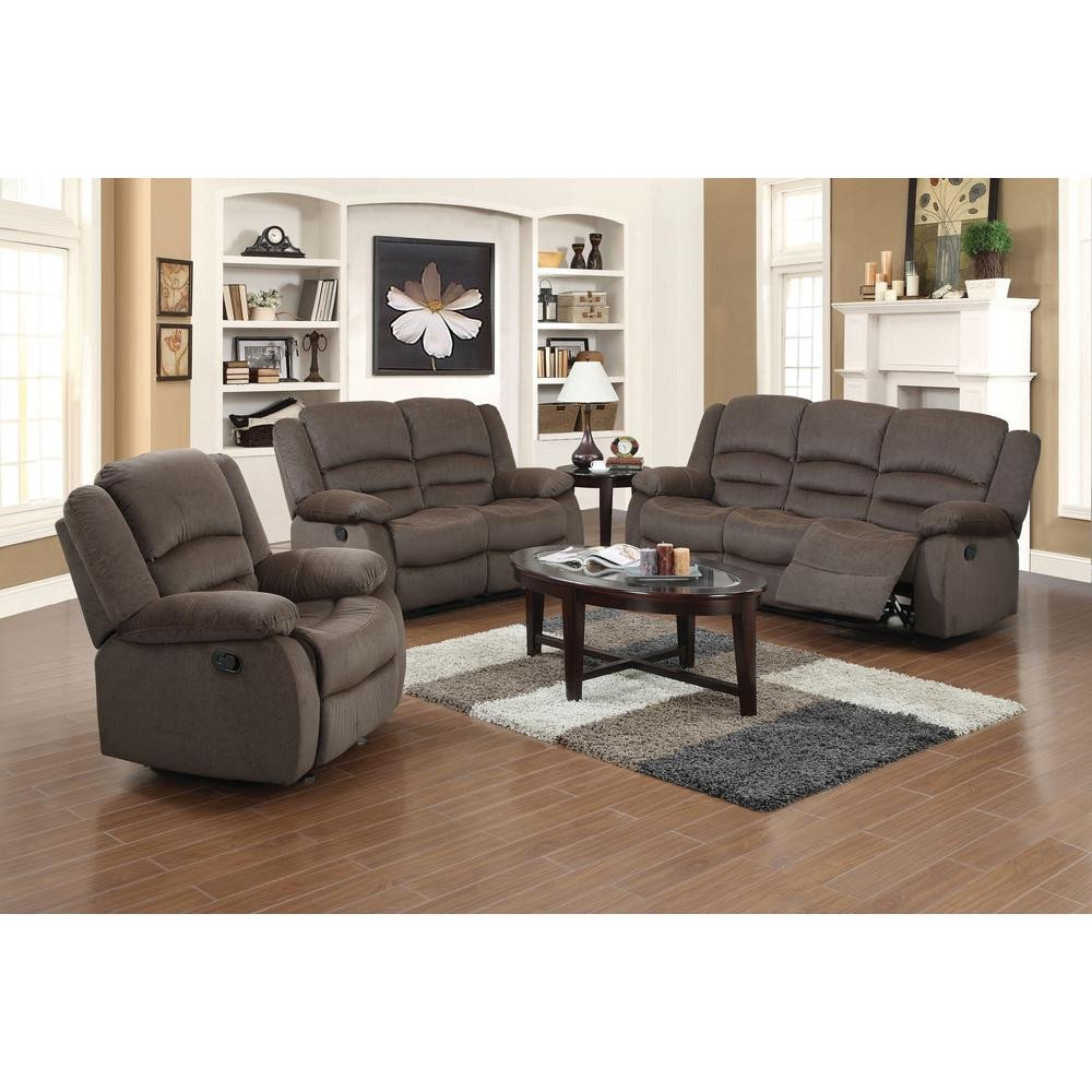 Contemporary Brown Living Room Inspirational Ellis Contemporary Microfiber 3 Piece Dark Brown Living Room Set S6020 the Home Depot