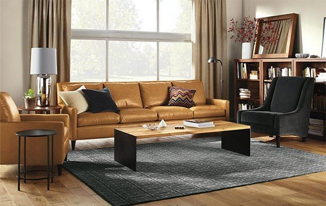 Contemporary Brown Living Room Luxury Emory Living Room by R&b Contemporary Living Room Minneapolis by Room & Board