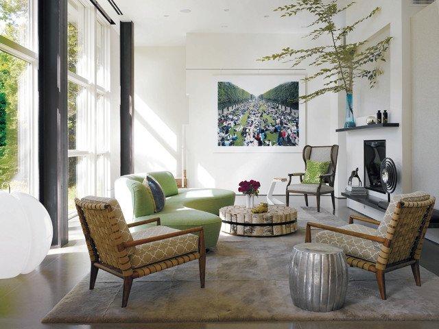 Contemporary Chic Living Room Elegant Country Chic Living Room Modern Living Room New York by White Webb