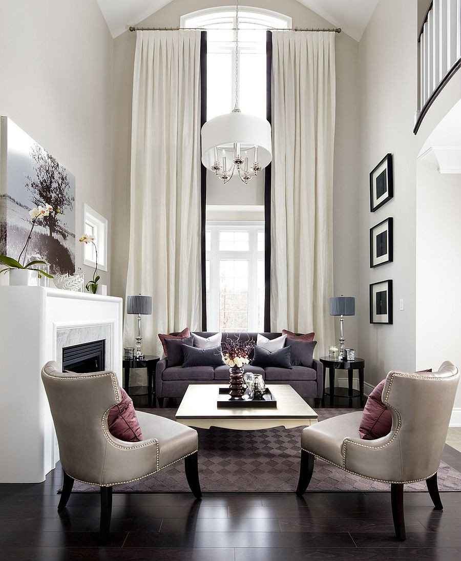 Contemporary Chic Living Room Lovely Sizing It Down How to Decorate A Home with High Ceilings