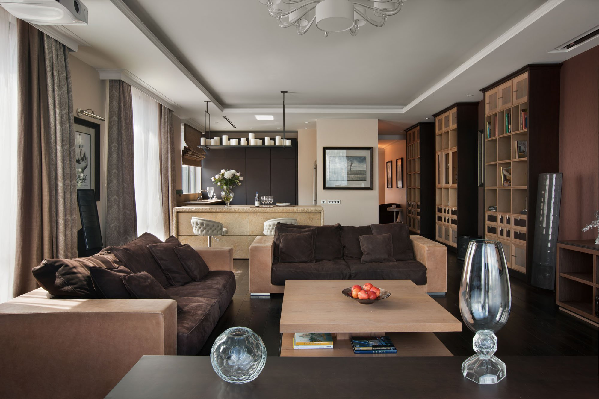 Contemporary Chic Living Room Luxury Contemporary Chic by Olstudio