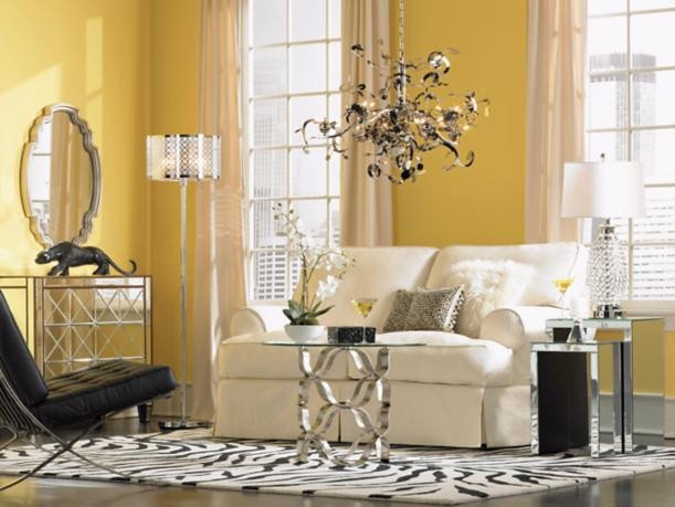 Contemporary Chic Living Room New Contemporary Glamour Makes A Statement In This City Chic Living Room Room Inspiration