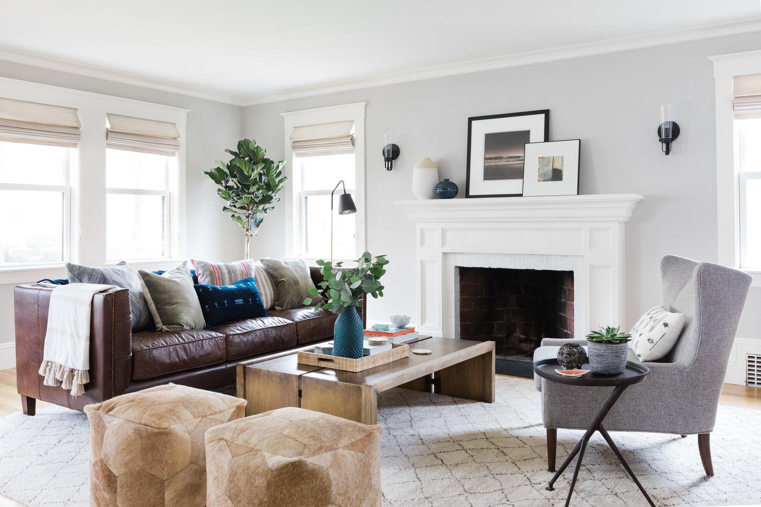 Contemporary Chic Living Room Unique Room Redo