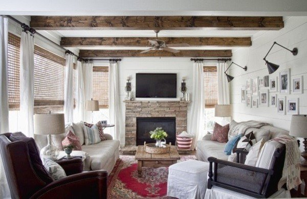 Contemporary Country Living Room Inspirational Modern Country Living Room Eclectic Living Room atlanta by Julie Holloway
