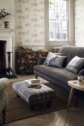 Contemporary Country Living Room New Country Cottage sofas Foter