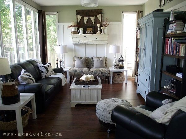 Contemporary Country Living Room New Fall Mantel & 2012 Living Room