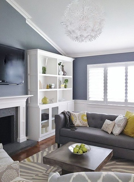 Contemporary Grey Living Room Luxury Grey and Green Living Contemporary Living Room San Francisco by Found Design