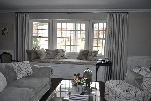 Contemporary Grey Living Room Luxury Silvery Grey formal Beachy Living Room Contemporary Living Room New York by Deepdale
