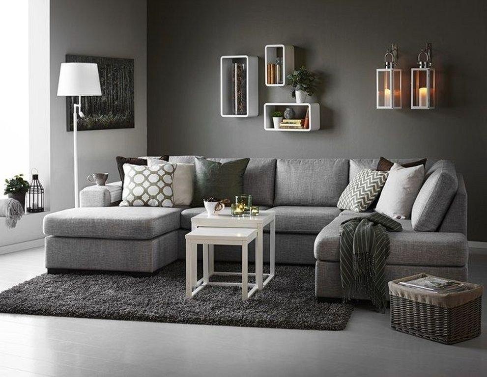 Contemporary Grey Living Room Unique 87designs