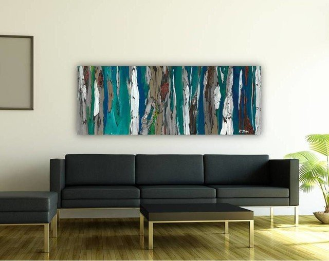Contemporary Living Room Art Inspirational Contemporary Modern Artwork In Living Room Dining Room Entry Blue Dark Teal Contemporary